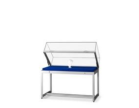 ATRIA - vitrine table en aluminium