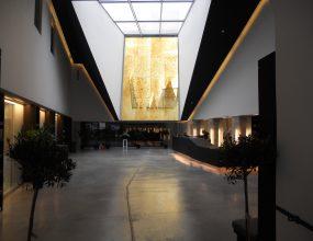 comptoir d'accueil musée